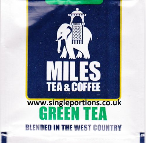 Green tea bags - foil sealed - single portion sachets online